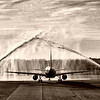 Triad Flight of Honor #8, the 6th and last for 2010, leaves PTI under a water canon salute the morning of October 30, 2010.